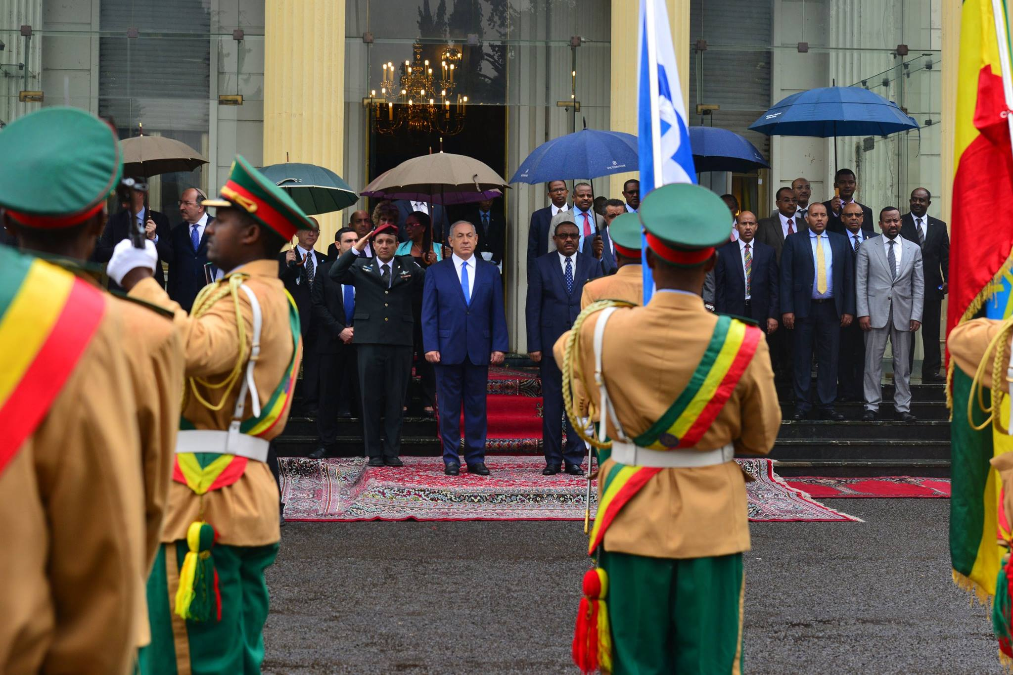 Natenyahu and Hailemariam Desalegne - source The Prime Minister Of Israel page on Facebook