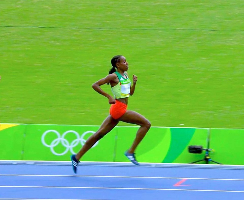 Almaz  Ayana on her way to new  world record time Gold glory